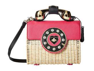 Betsey Johnson Wicker Phone Bag Handbags
