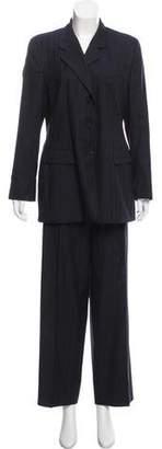Luciano Barbera Striped Wool Pantsuit