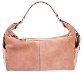 Tod's Textured Leather-Trimmed Suede Shoulder Bag