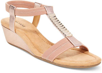 Alfani Women's Vacay Wedge Sandals, Only at Macy's $49.98 thestylecure.com