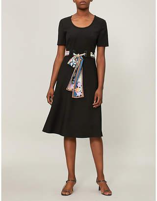 Emilio Pucci Tie-waist silk dress