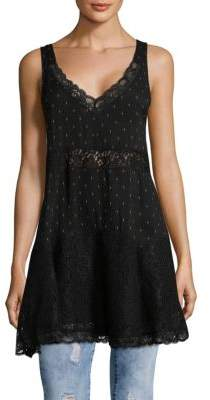 Free People Party Trapeze Lace Paneled Tunic