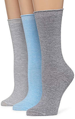 MIXIT Mixit Marled 3 Pair Crew Socks - Womens