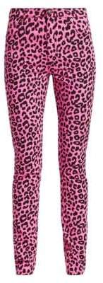 Gucci Women's Straight-Leg Animal Print Jeans - Pink Black - Size 26 (2-4)