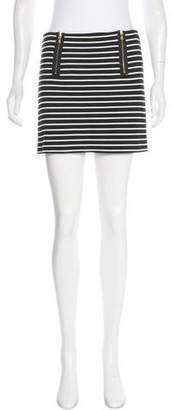 Trina Turk Striped Mini Skirt