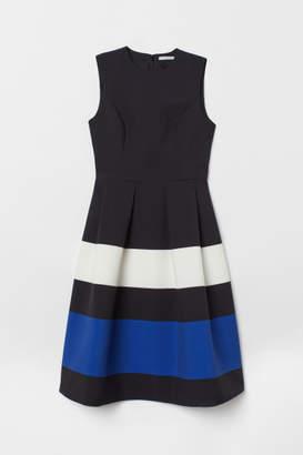 H&M Color-block Dress - Black