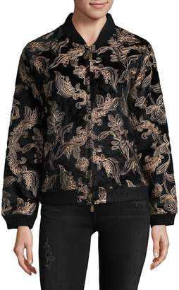 Goldie Women's Embroidered Bomber Jacket