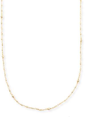 "Mizuki 14k Gold-Beaded Station Necklace, 34"""