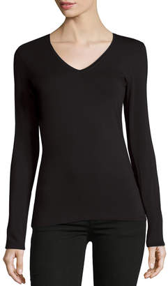 Majestic Soft Touch V-Neck Jersey Top