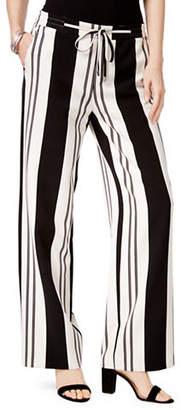 INC International Concepts Petite Striped Boot-Cut Trousers