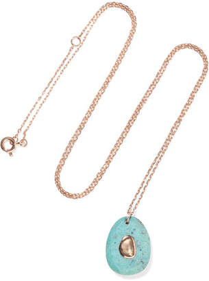 Pascale Monvoisin Orso N°2 9-karat Rose Gold, Turquoise And Diamond Necklace