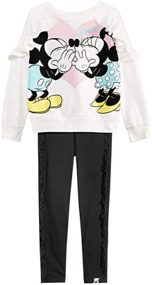 fd08bb16ec71a Disney Little Girls 2-Pc. Mickey Minnie Top & Leggings Set