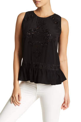 Nicole Miller Embroidered Top