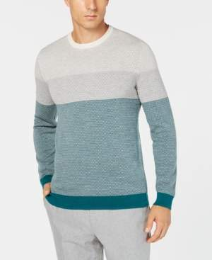 Tasso Elba Men's Imola Colorblocked Supima Cotton Sweater, Created for Macy's
