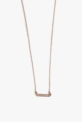 Mini Horizon Diamond Necklace $615 thestylecure.com
