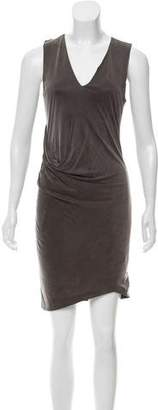 Helmut Lang Draped Front Mini Dress