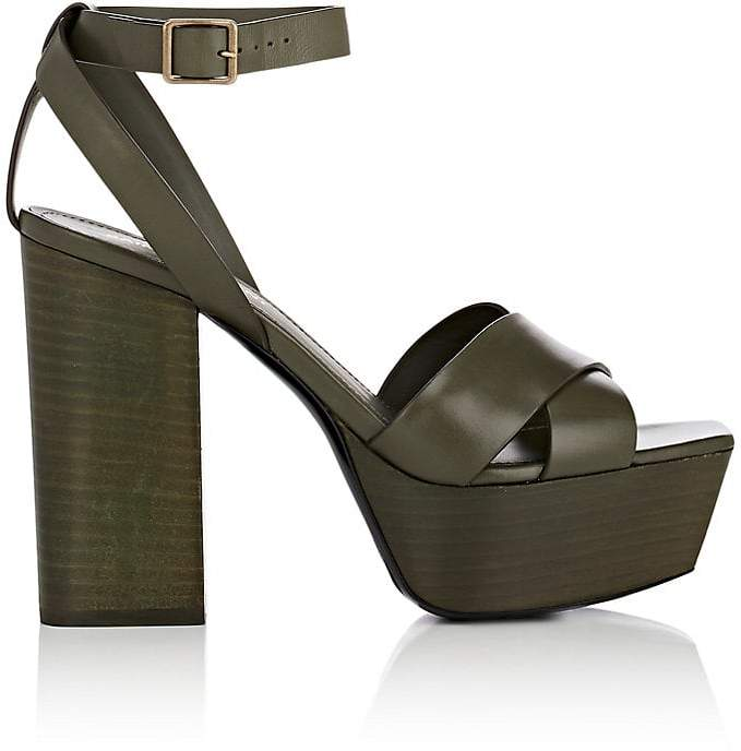 Saint Laurent Women's Farrah Leather Platform Sandals