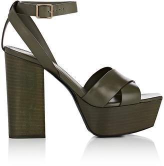 Saint Laurent Women's Farrah Leather Platform Sandals