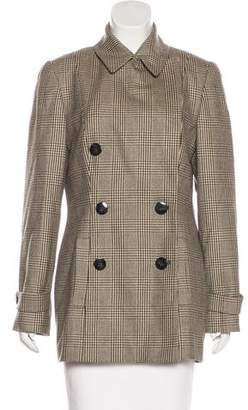 Ellen Tracy Linda Allard Wool Plaid Blazer
