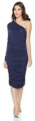 Mariella Bella Women's Bodycon One Shoulder Stretchy Knit Ruched Dress