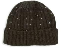 Carolyn Rowan Chunky Cashmere Embroidered Hat