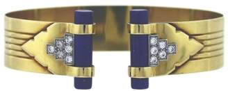 Tiffany & Co. 18K Yellow Gold Diamonds And Lapis Lazuli Bracelet