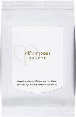 Clé de Peau Beauté Eye and Lip Makeup Remover Towelettes, 50 count