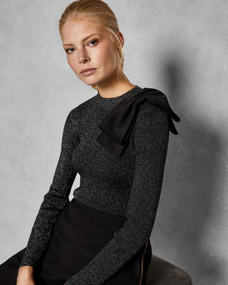 Ted Baker LIZZIIA Detachable bow jumper
