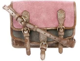 Zadig & Voltaire Colorblock Suede Crossbody Bag