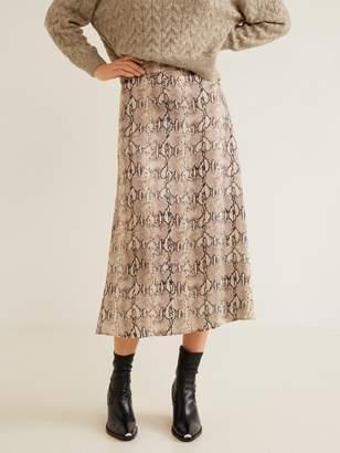 MANGO Midi Skirt -Snake Print