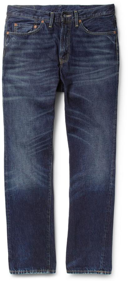 Levi's 1954 501Z Straight-Leg Washed Selvedge Denim Jeans