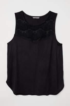 H&M H&M+ Sleeveless Jersey Top - Black