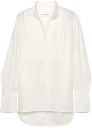Frame Pintucked Linen-blend Shirt - White