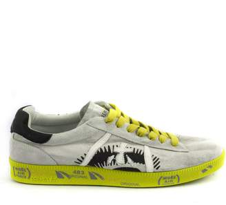 Premiata Andy Sneaker In Light Grey Suede Upper