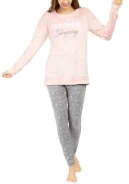 Macy's Jenni Faux Fur Tunic & Leggings Pajama Set, Created for