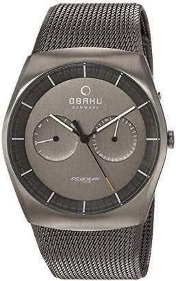 Obaku Men's Titanium Analog-Quartz Watch with Stainless-Steel Strap