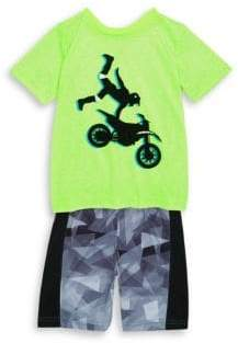 Petit Lem Boy's & Little Boy's Two-Piece Printed Pajama Top and Pants Set