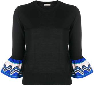 Emilio Pucci contrast-hem fitted sweater