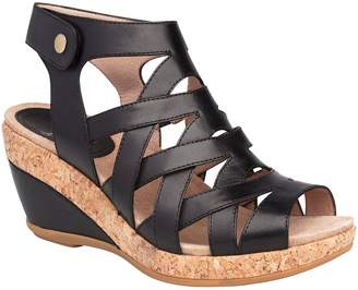 Dansko Open-Toe Wedge Leather Sandals - Cecily