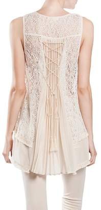 The Vintage Valet Cream Lace Top