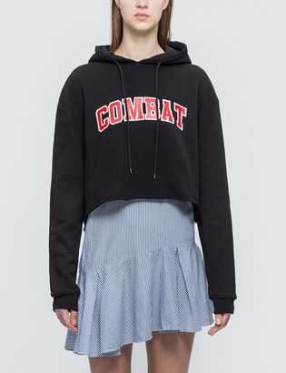 MSGM Combat Cropped Hoodie $165 thestylecure.com