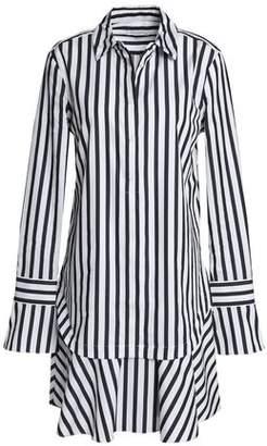 Equipment Striped Cotton Mini Dress