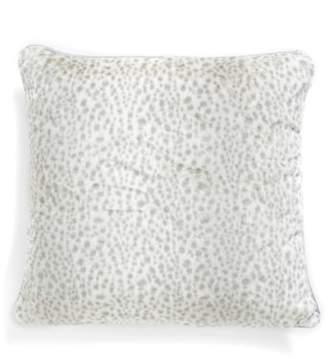 Giraffe at Home 'Snow Leopard' Faux Fur Throw Pillow