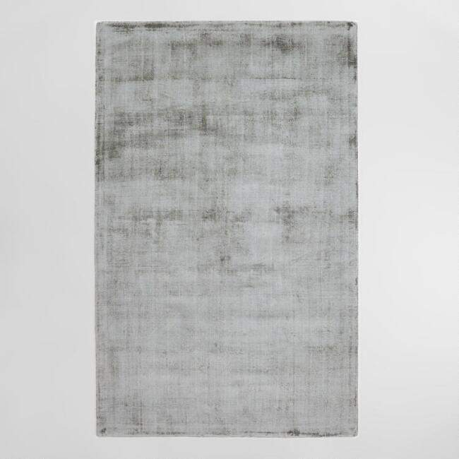 Gray Tonal Tufted Viscose Gable Area Rug