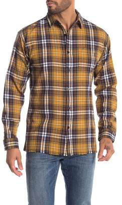 nANA jUDY Raw Hem Plaid Long Sleeve Shirt
