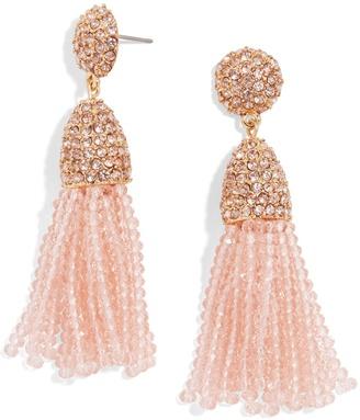 Mini Gem Piñata Tassel Earrings $36 thestylecure.com
