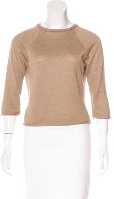 Paul Smith Linen & Silk-Blend Sweater $65 thestylecure.com