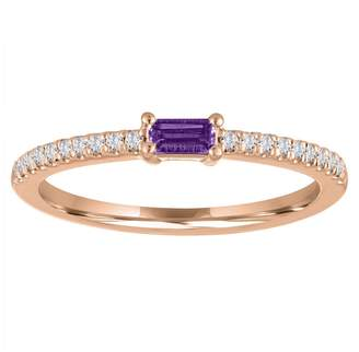 story. My Julia Amethyst Ring - Rose Gold