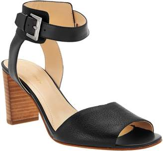 Marc Fisher Leather Ankle Strap Block Heel Sandals - Genette