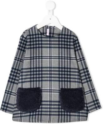 Il Gufo checked long-sleeved sweatshirt